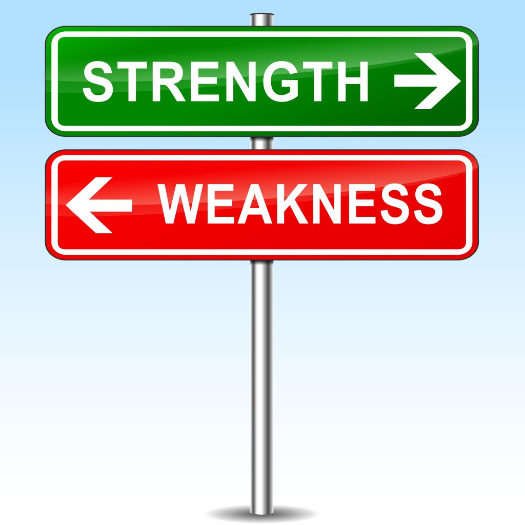 face your weaknesses to your strength precision social strength sign